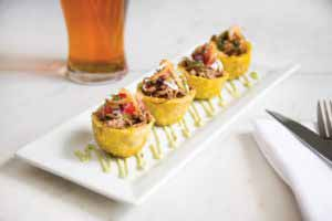 MIC Food Ropa Vieja Stuffed Plantain Toston Cups