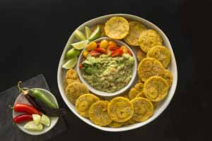 Paleo Recipe Toston Platter with guacamole
