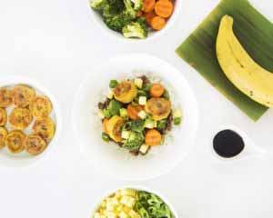 MIC Food Teriyaki Turkey Bowl with Pure & Simple Sweet Plantain Rounds