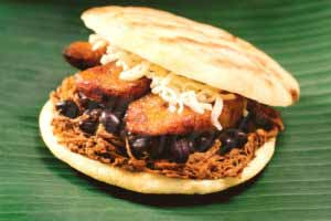 MIC Food Arepa with Big Banana Sweet Plantain Slices